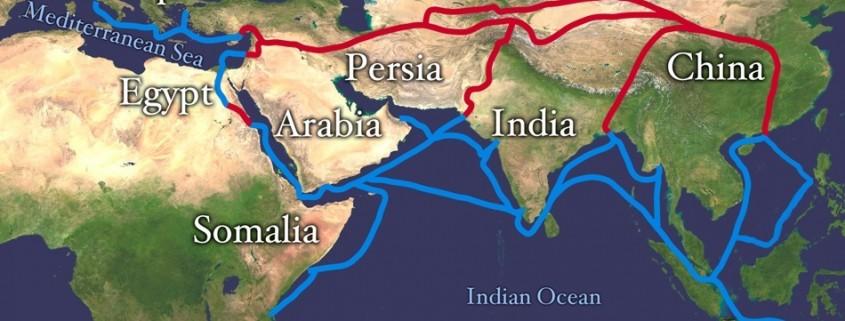 harta chineza drumul matasii